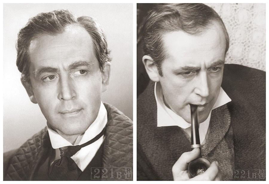 Фотопробы Василия Ливанова на роль Холмса: