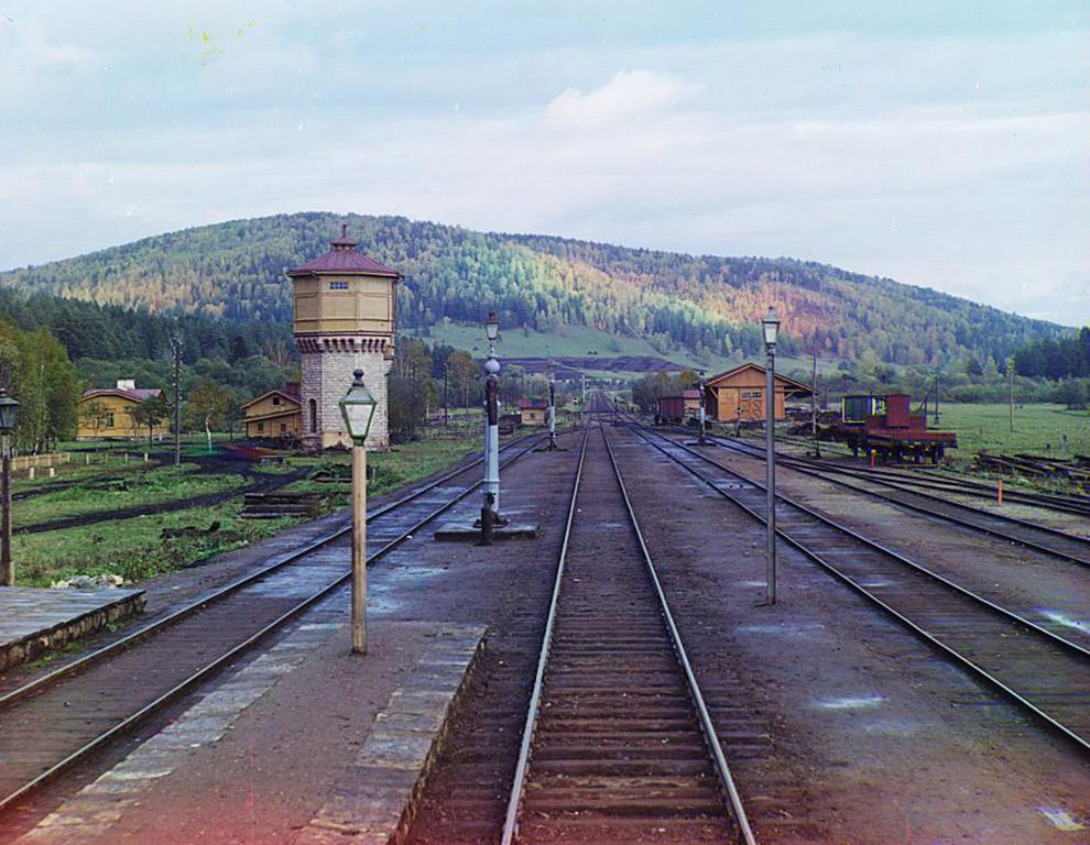 Станция, общий вид, Сим, Челябинская область. 1894 год