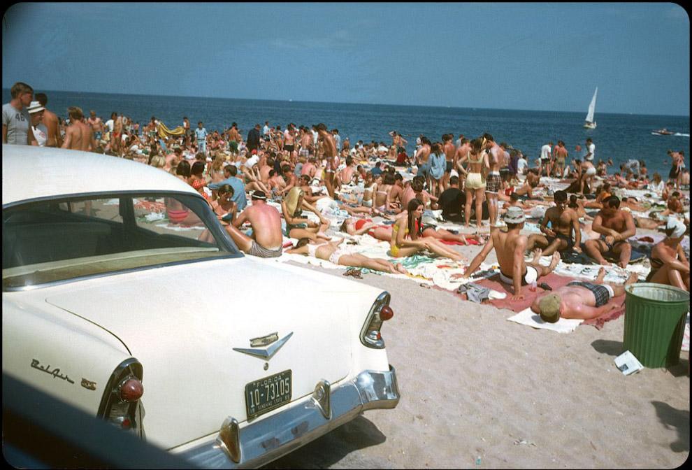 Plaża Fort Lauderdale area, Floryda, 1966.