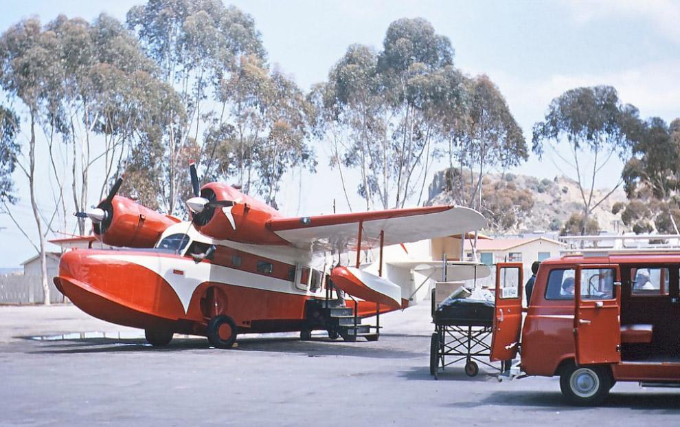 Grumman G-21 Goose частной авиакомпании Catalina Channel Airlines, Калифорния, 1964 год.