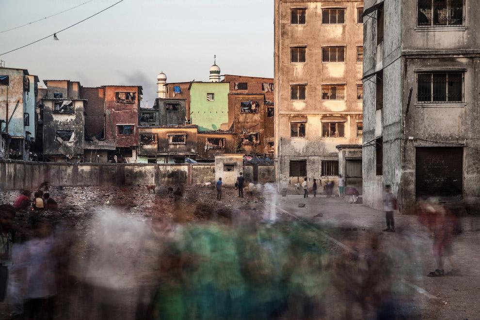 Трущобы в Мумбаи, снятые на длинной выдержке