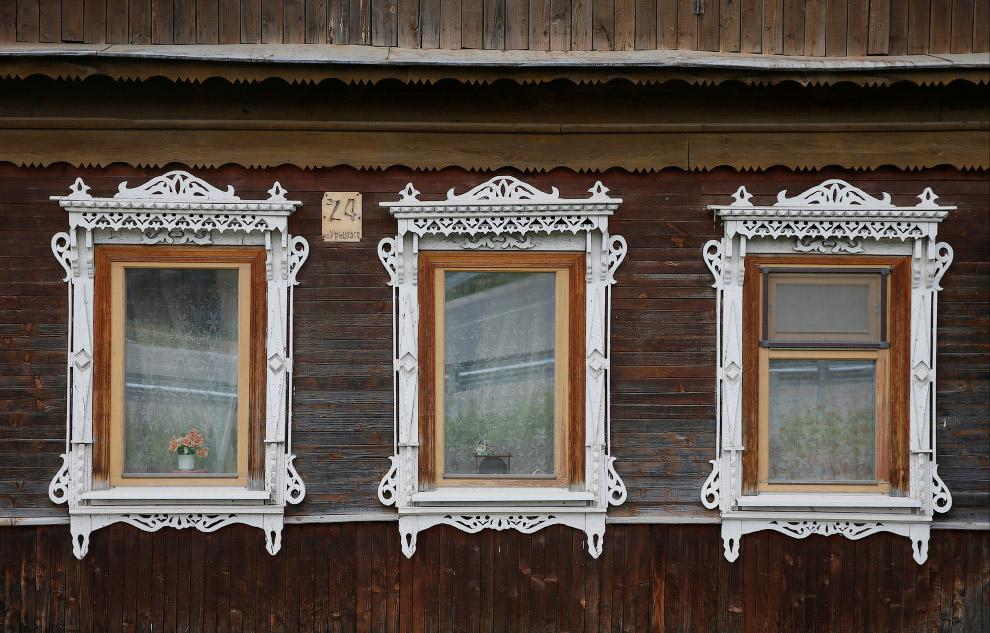 Детали дома в Калужской области России
