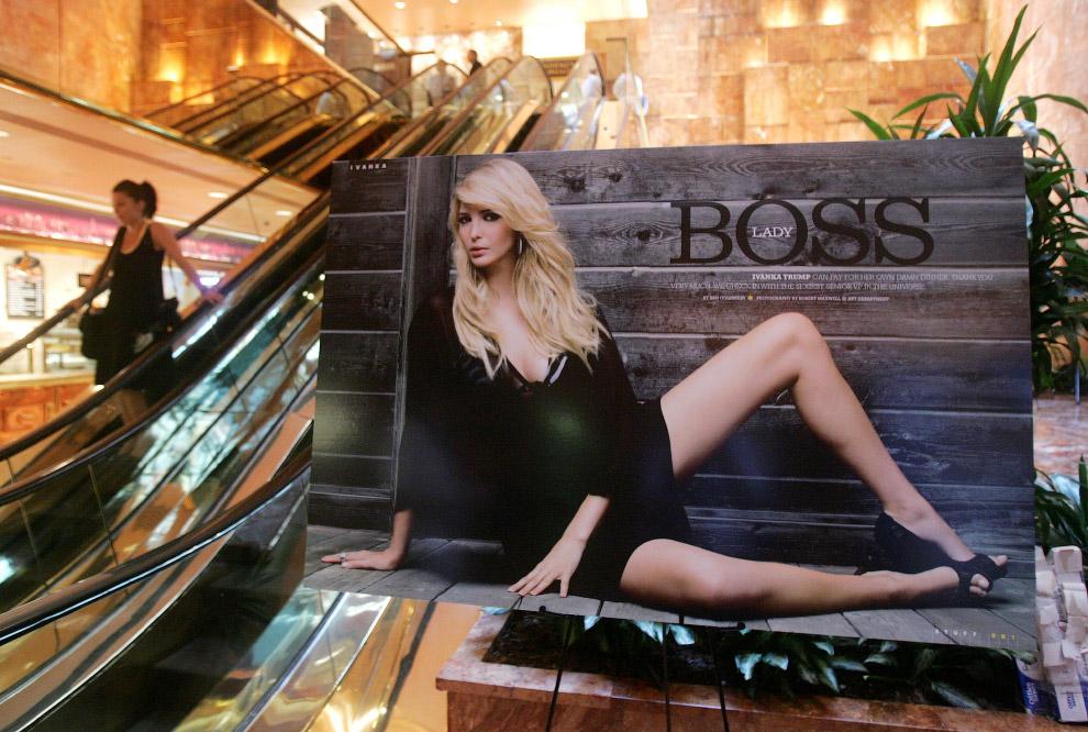 Иванка Трамп на плакате в магазине Нью-Йорка