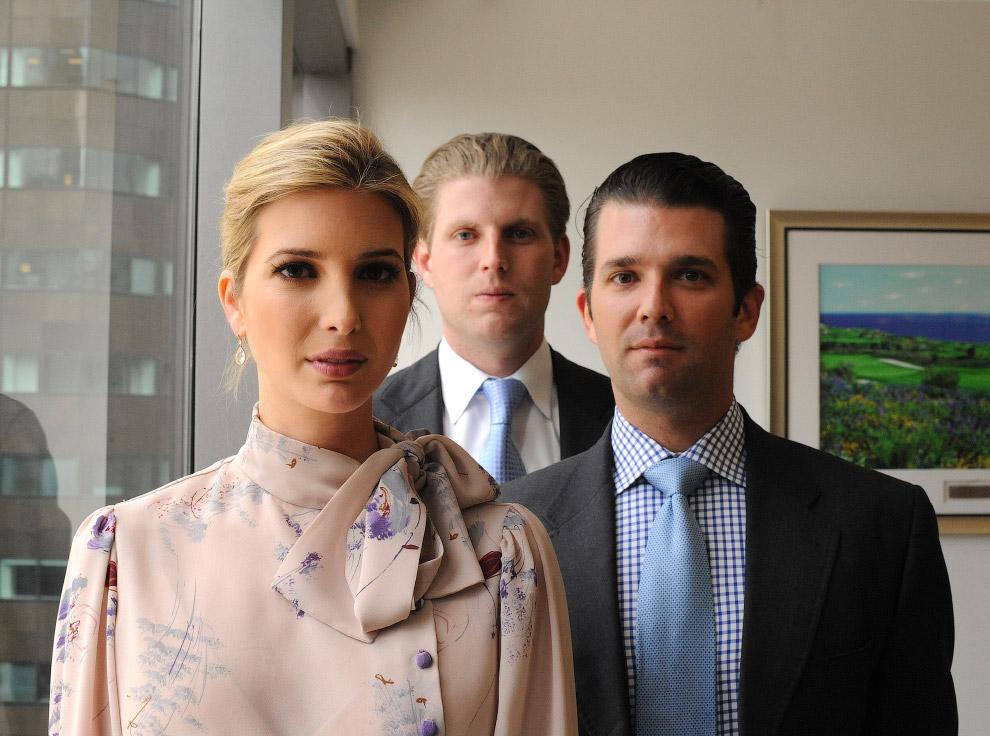 Иванка Трамп с братьями на Манхэттене, Нью-Йорк
