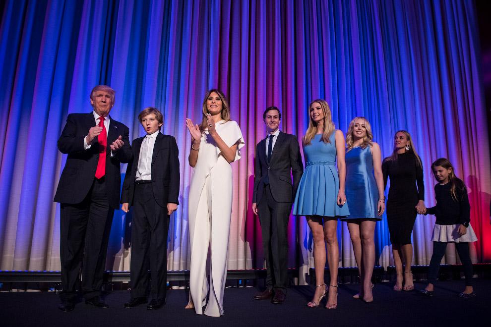 Фотография семьи избранного президента Дональда Трампа на следующий день после выборов