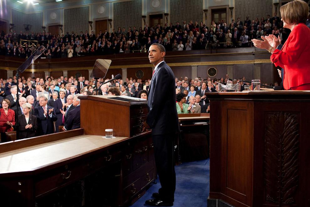 Барак Обама в Капитолии, округ Колумбия