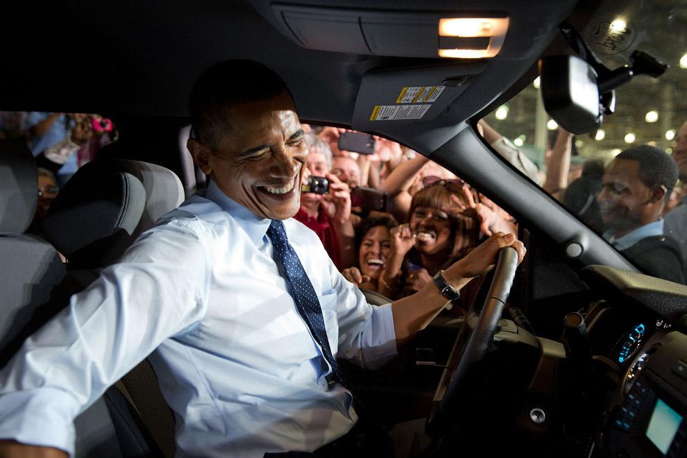 Обама на заводе Форд Канзас-Сити