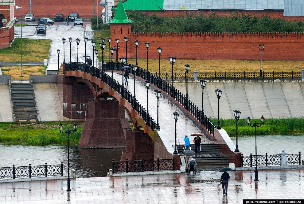 пешеходный мост через Малую Кокшагу