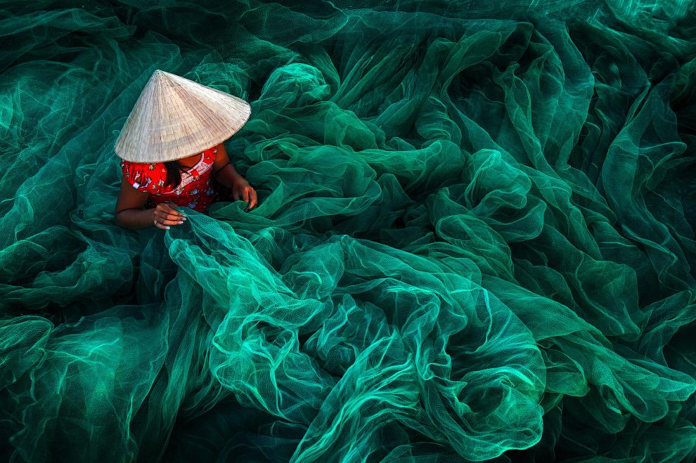 Изготовление рыболовных сетей, Вьетнам