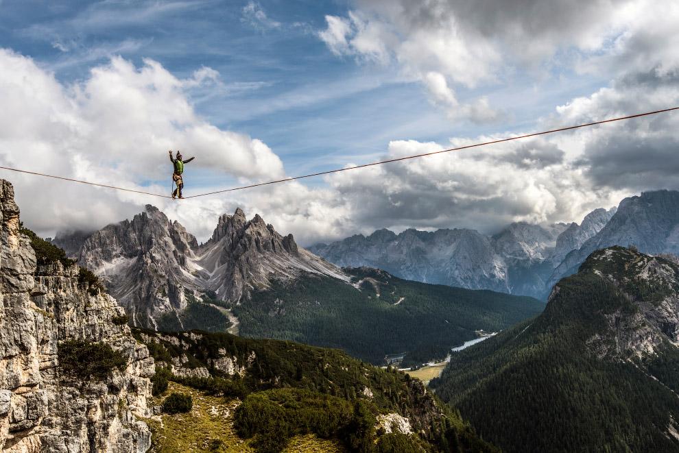 Прогулка на высоте 2324 метра в итальянских Доломитах