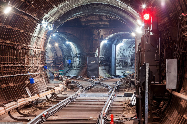 Подземные тоннели Кольцевой линии