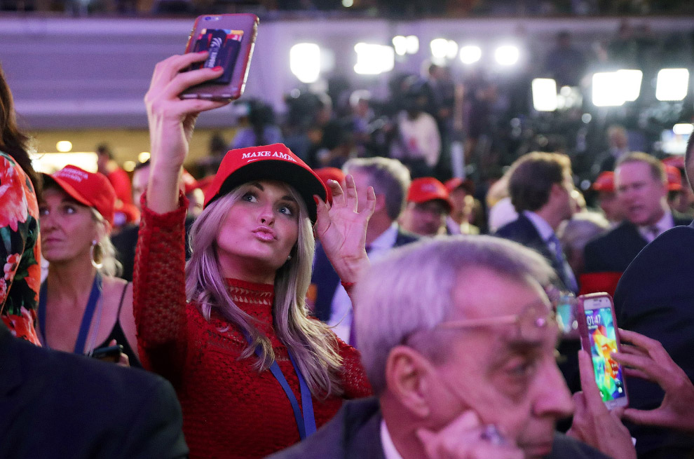 Митинг сторонников Дональда Трампа в Нью-Йорке