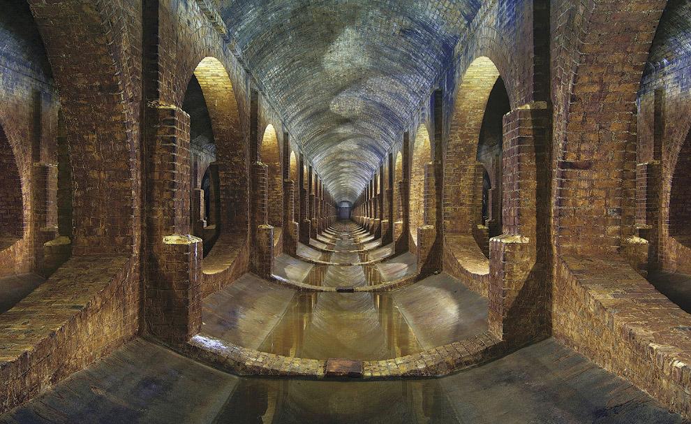 Подземное сооружение под Лондоном, относящееся к викторианской эпохе