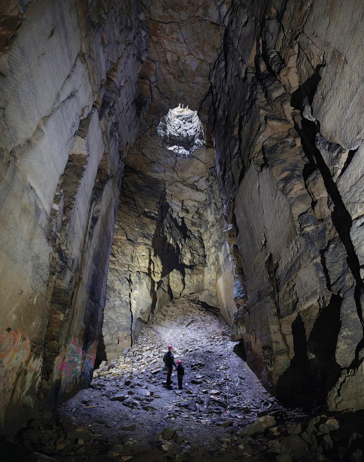Заброшенный подземный карьер в Уилтшире