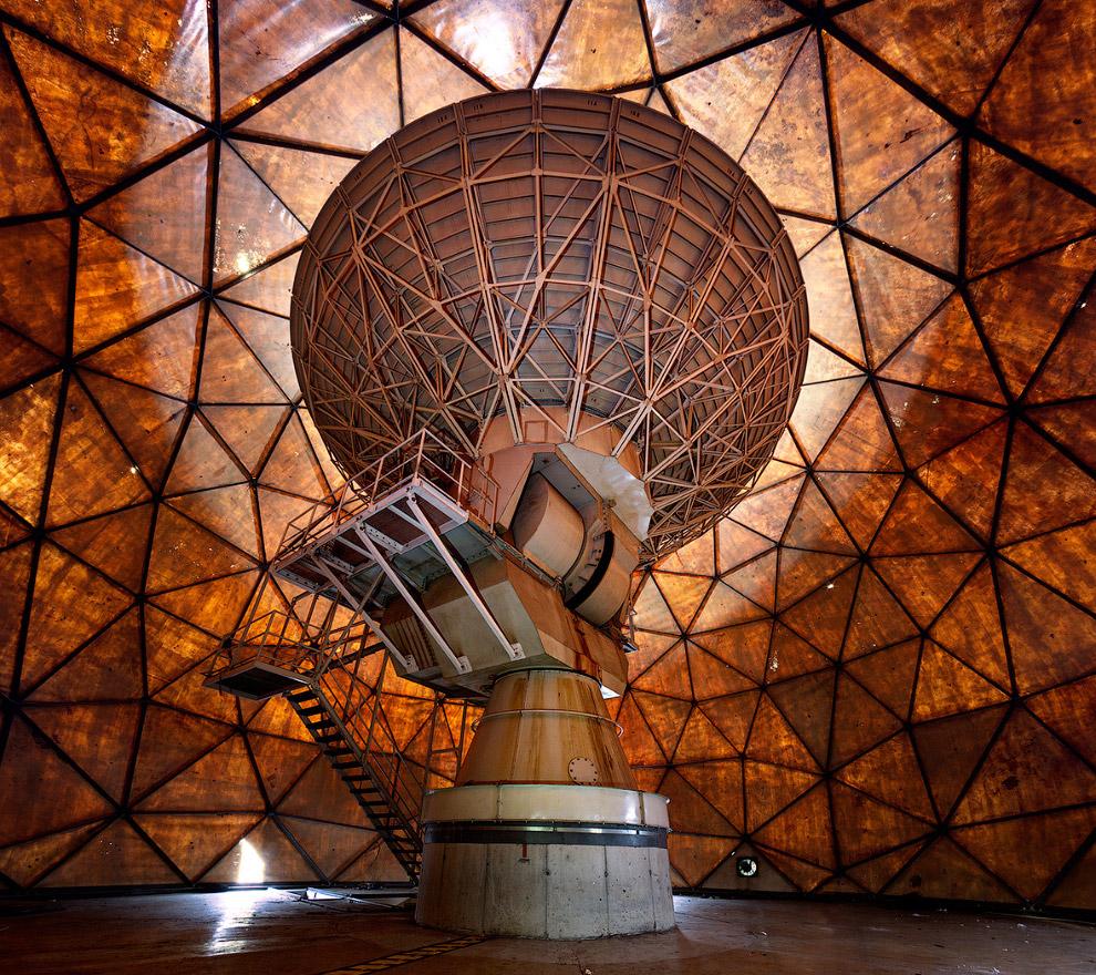 Заброшенный геодезический купол и прекрасная радиоантенна