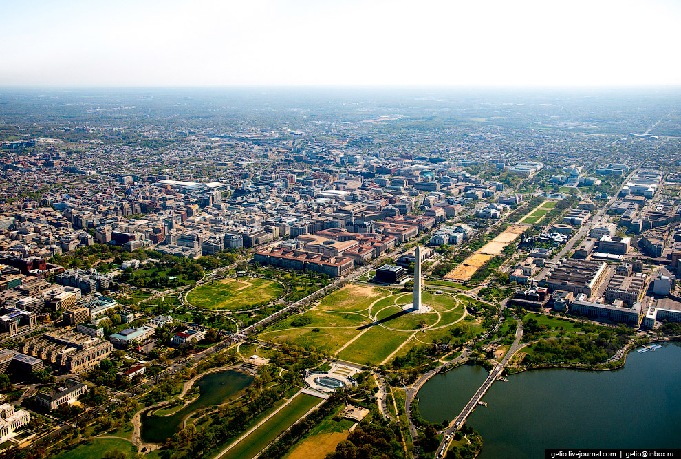 Вашингтон — столица США. Монумент Вашингтона на Национальной аллее.