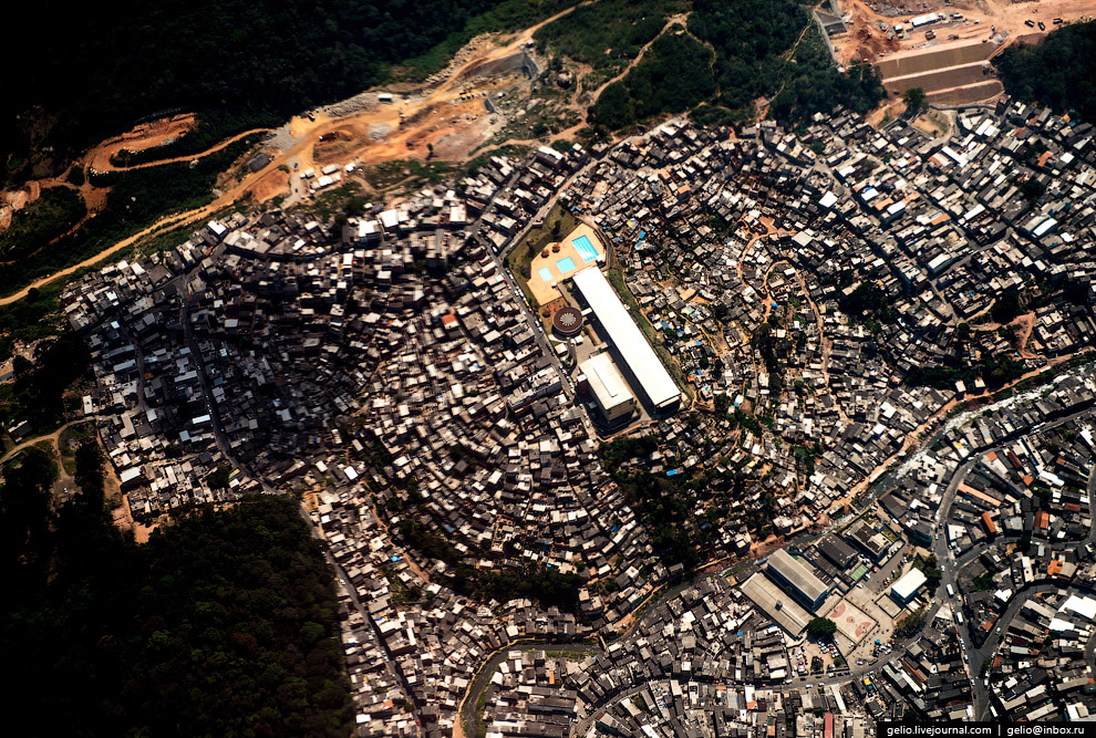 Трущобы Сан-Паулу.