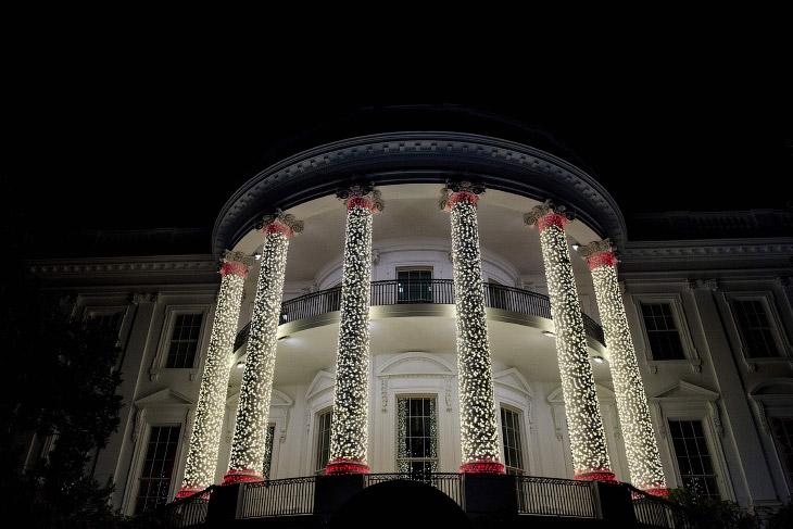 Новогодняя иллюминация Белого дома