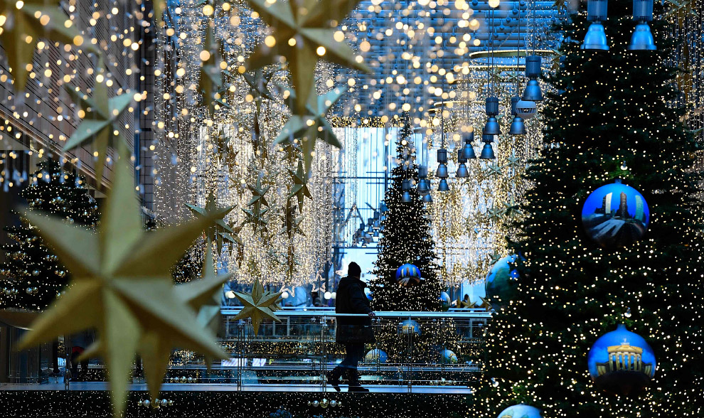 Новогодняя иллюминация в Берлине