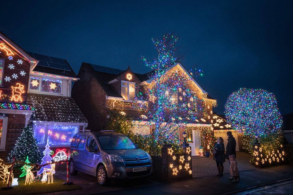 Украшения домов в городе Сомерсет, Англия