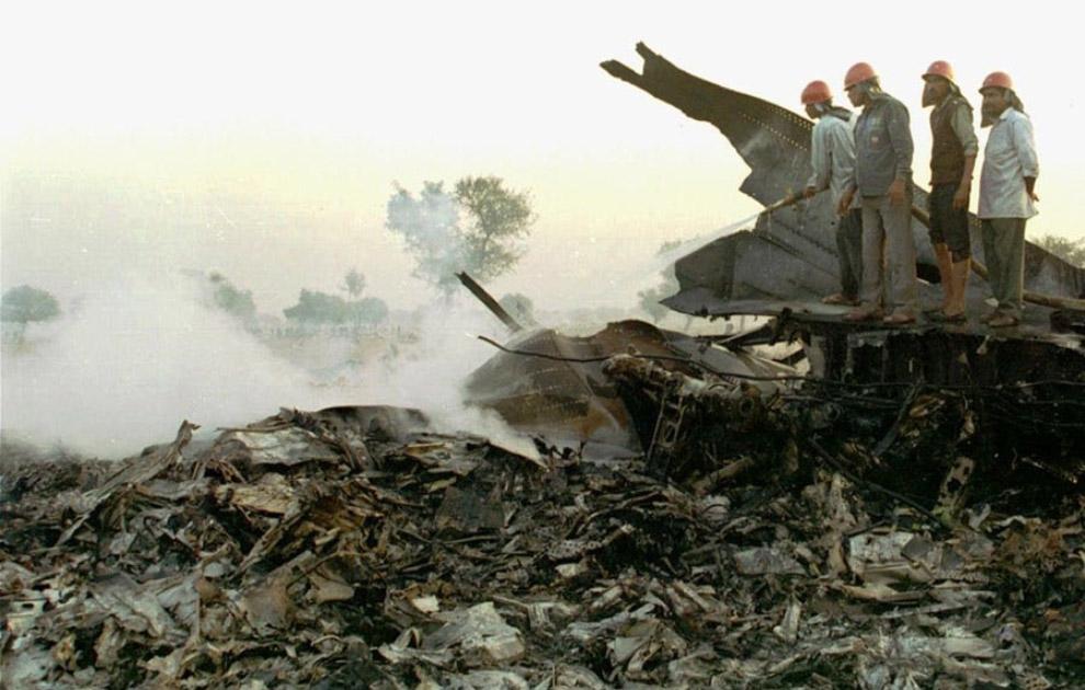 Столкновение над Чархи Дадри — 349 погибших