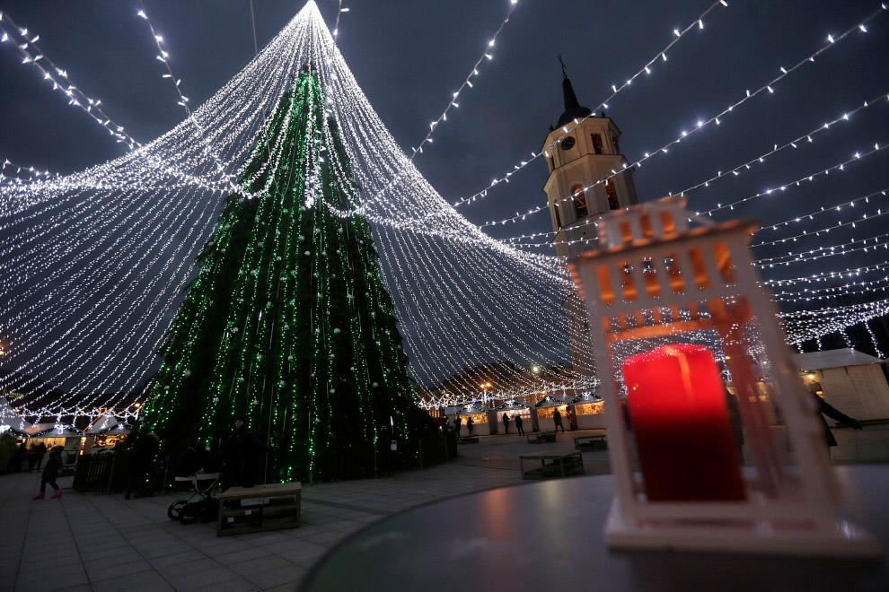 Новогодняя елка в Вильнюсе, Литва