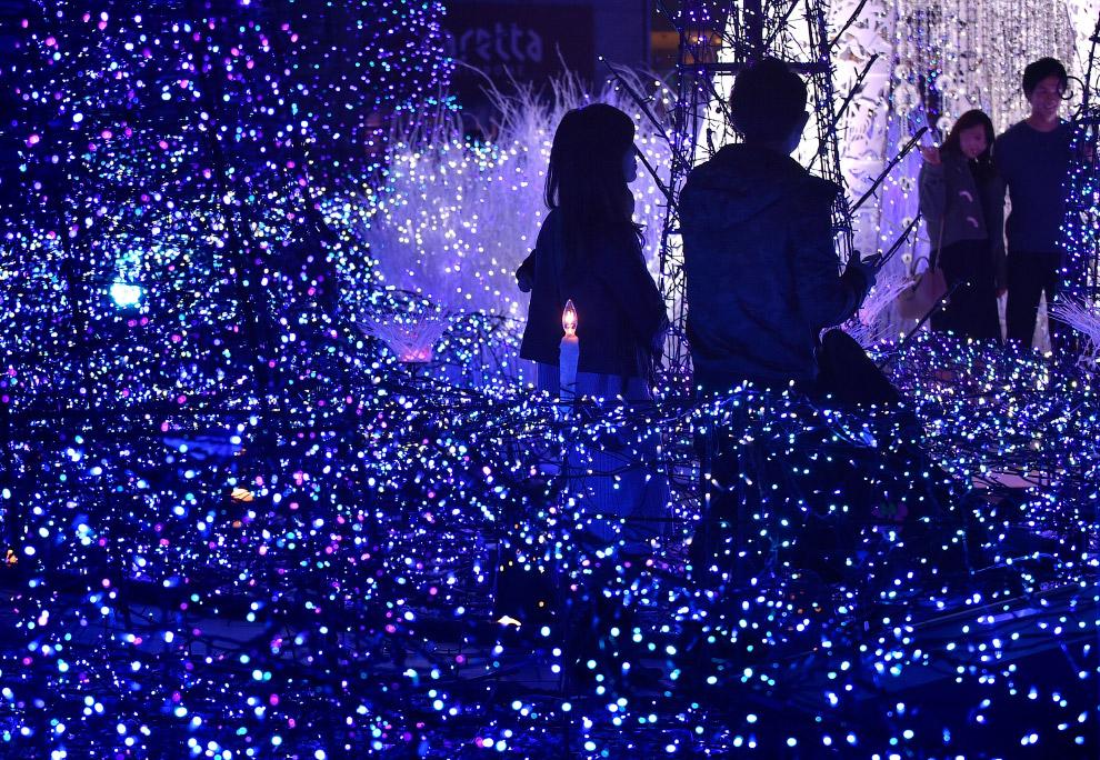 Новогодние огни в Токио