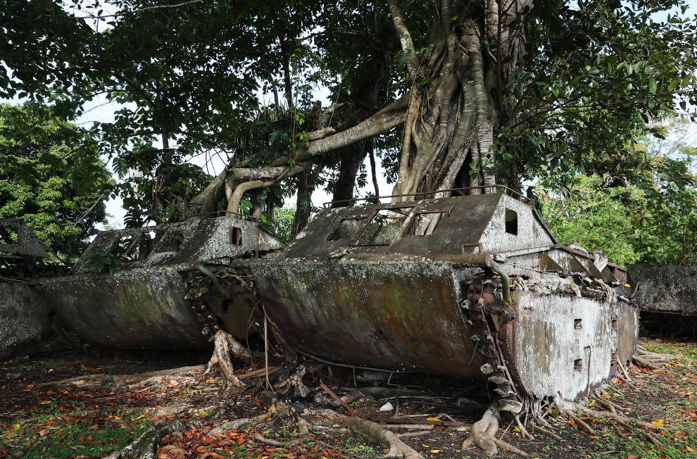 Американские военные машины навсегда остались в джунглях на Соломоновых Островах