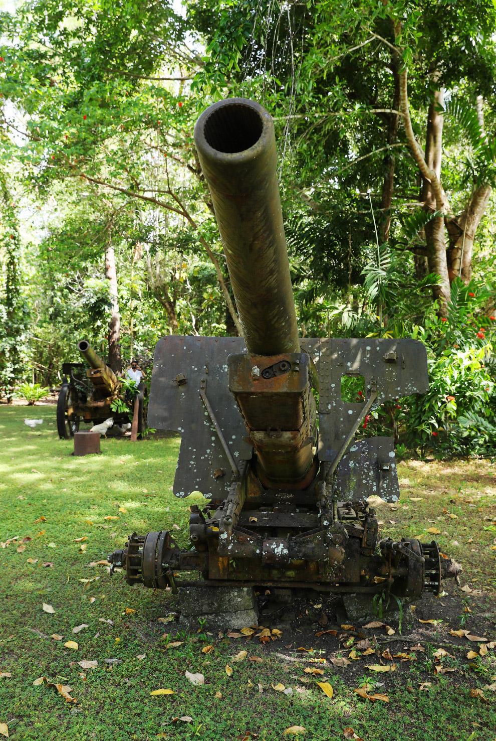 Останки японско гаубицы, Соломоновы Острова
