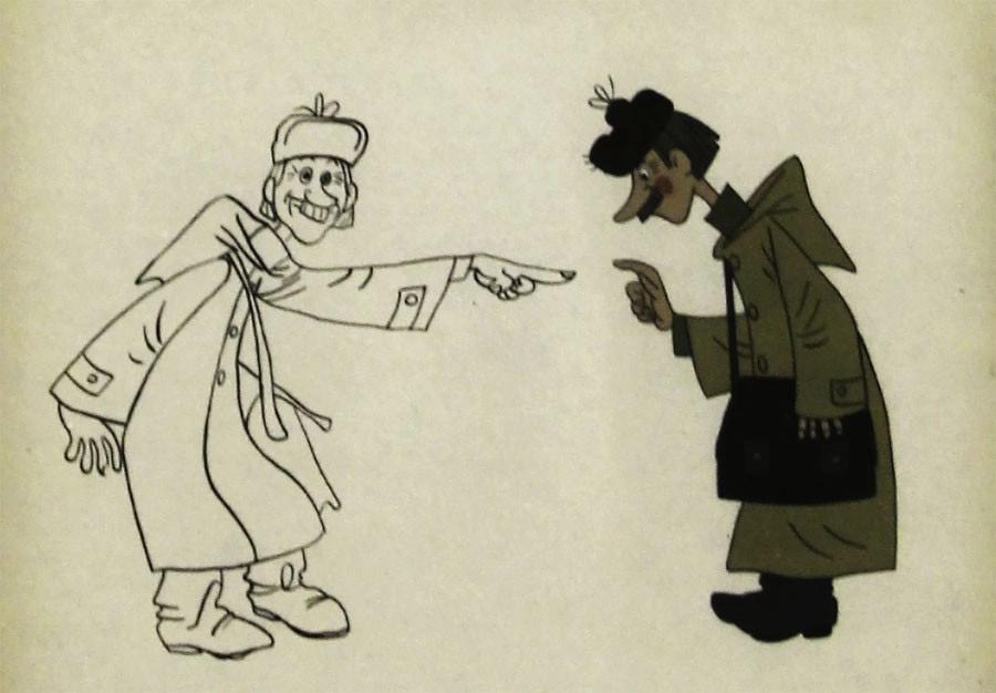 Шер А.С. Эскиз к фильму «Зима в Простоквашино». Собрание Музея кино