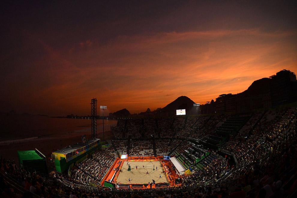 Пляжный волейбол на Олимпийских играх 2016. Матч между сборными Нидерландов и России