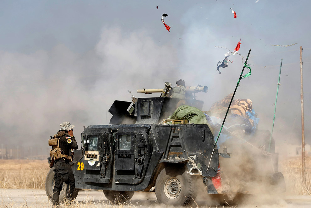 Иракский спецназ по боевикам к востоку от Мосула