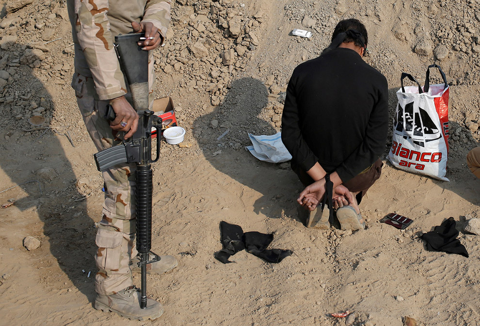 Задержанный на КПП к югу от Мосула
