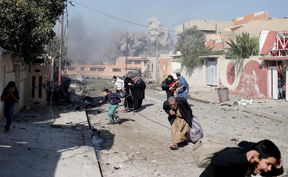 Обстрел с воздуха, Мосул, Ирак