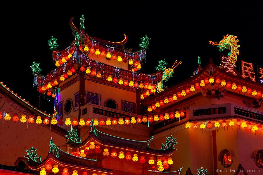Китайский Новый год в малазийском монастыре