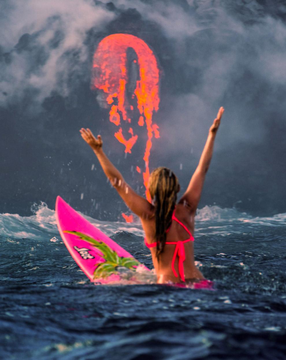 Экстремальный серфинг от профессиональной спортсменки Alison Teal