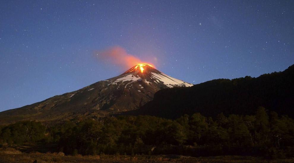№4. Вулкан Вильяррика, Чили
