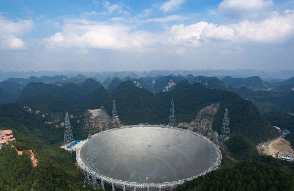 самой большой в мире радиотелескоп FAST