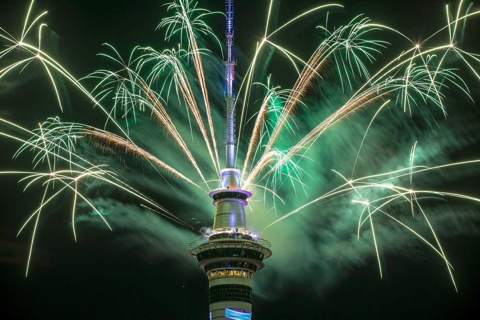 Новый год 2017 в в Окленде, Новая Зеландия