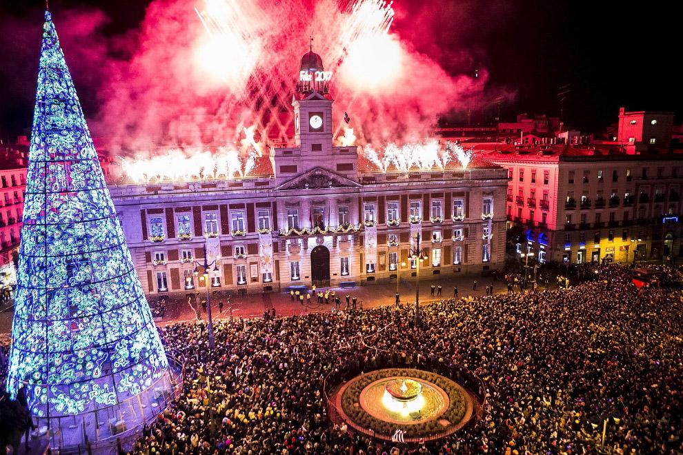 Встреча Нового года в Мадриде, Испания