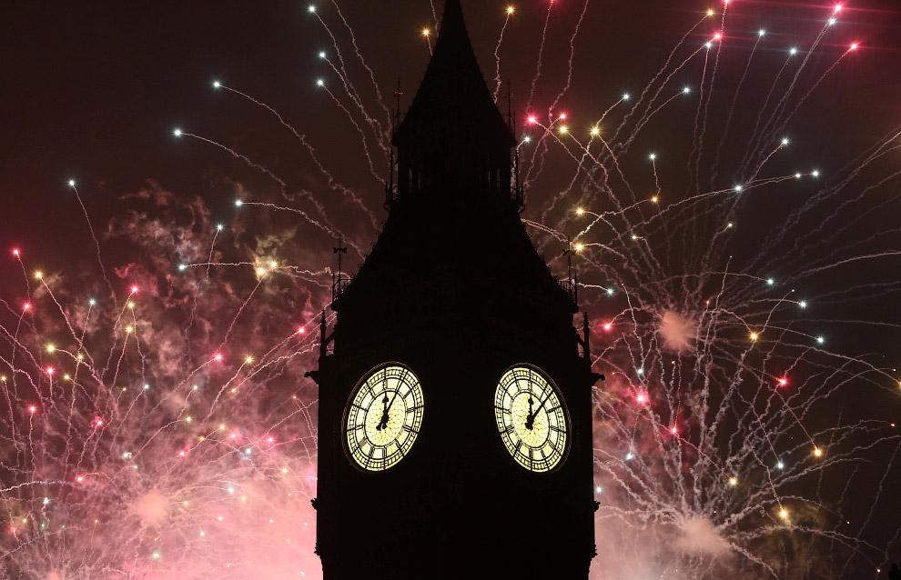 Новогодний Биг Бен в Лондоне