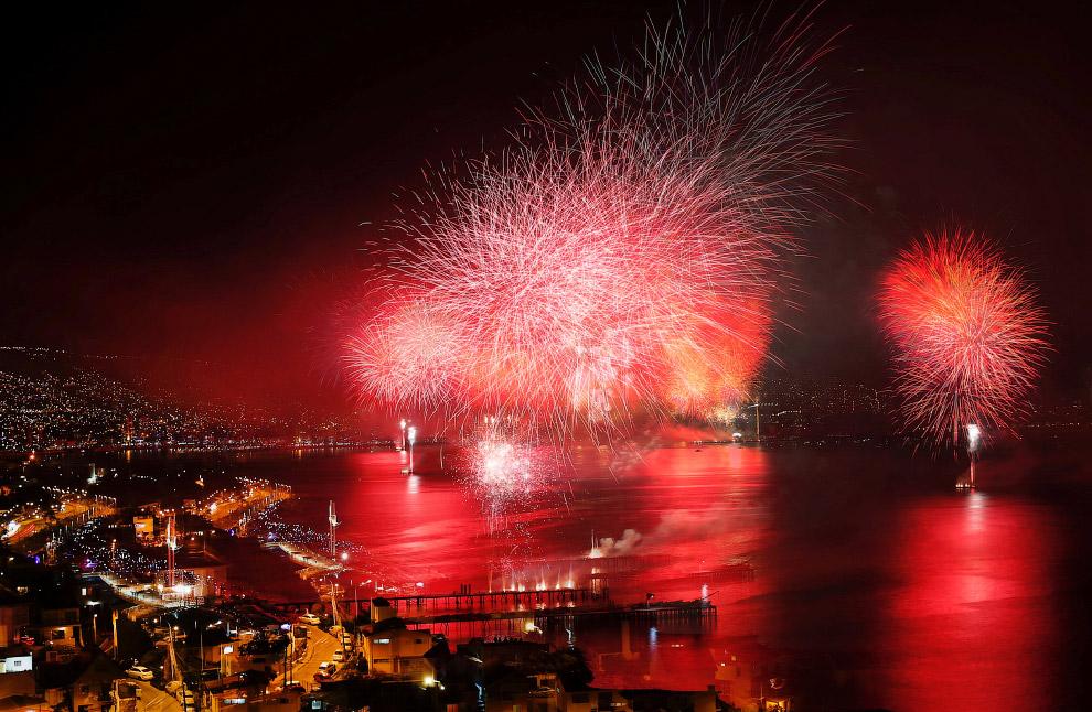 Новый год 2017 в Вальпараисо, Чили