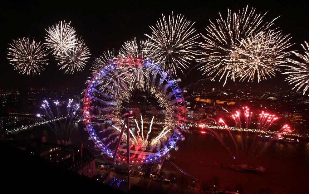 Колесо обозрения «Лондонский глаз» в центре Лондона