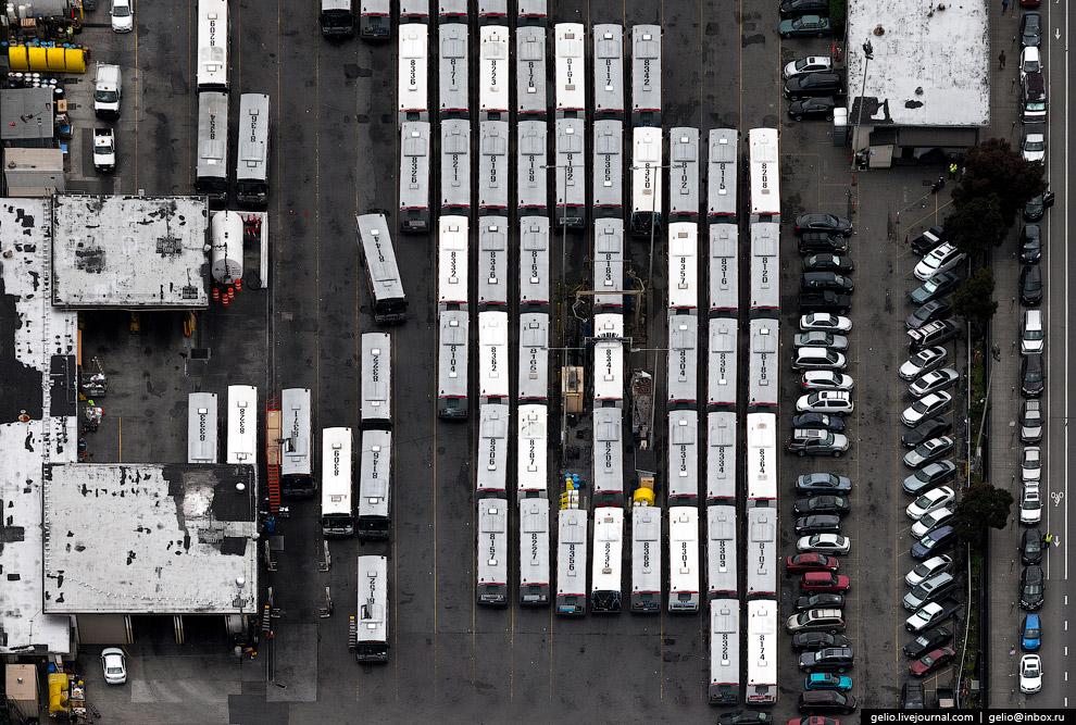 Автобусный парк в Сан-Франциско