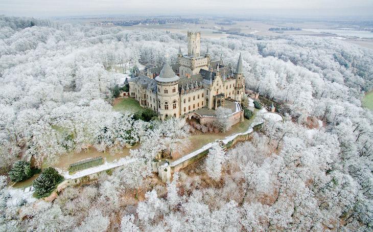 Зима в Европе глазами дронов