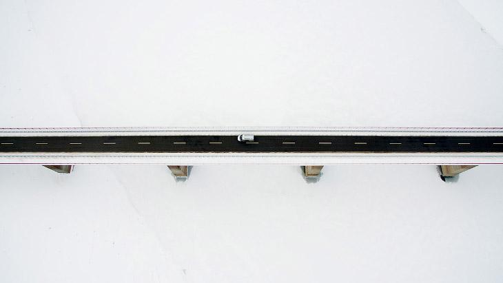 Снежный мост в Германии