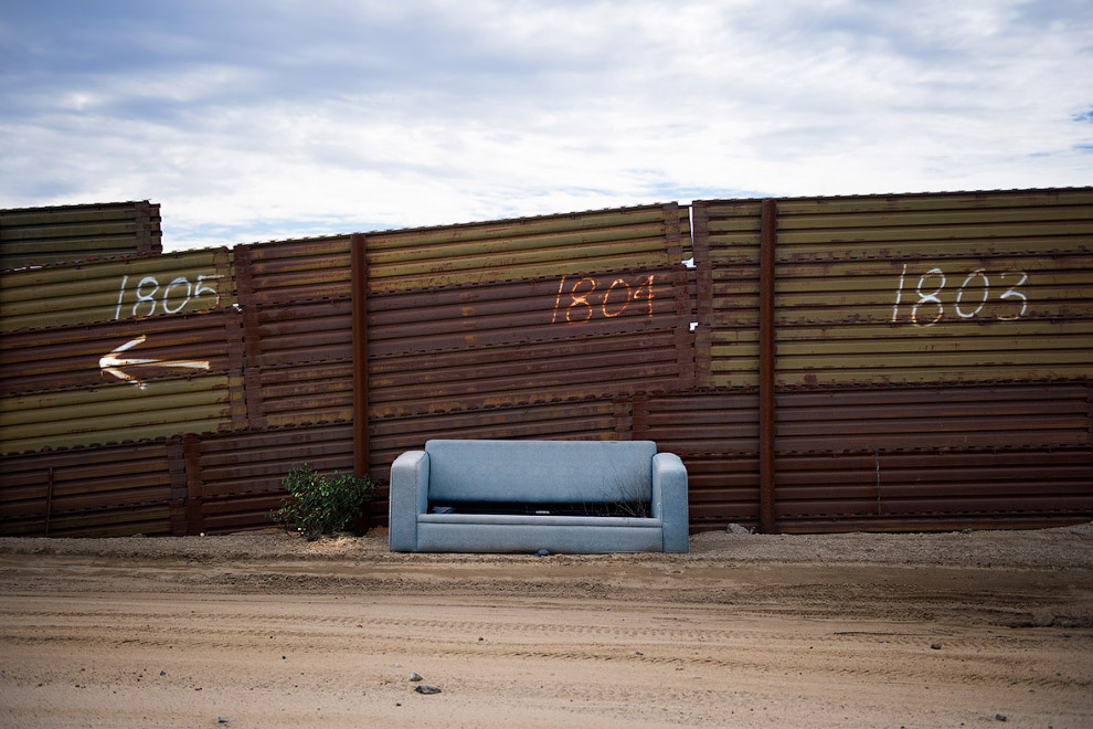 Граница с Мексикой в Текейте, Калифорния