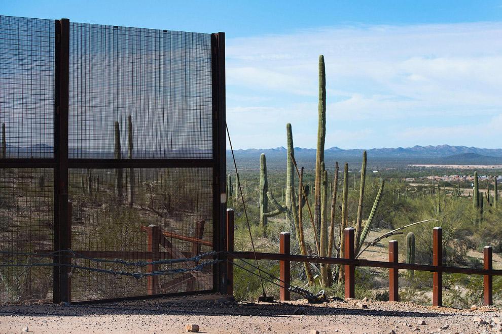 Граница в штате Аризона