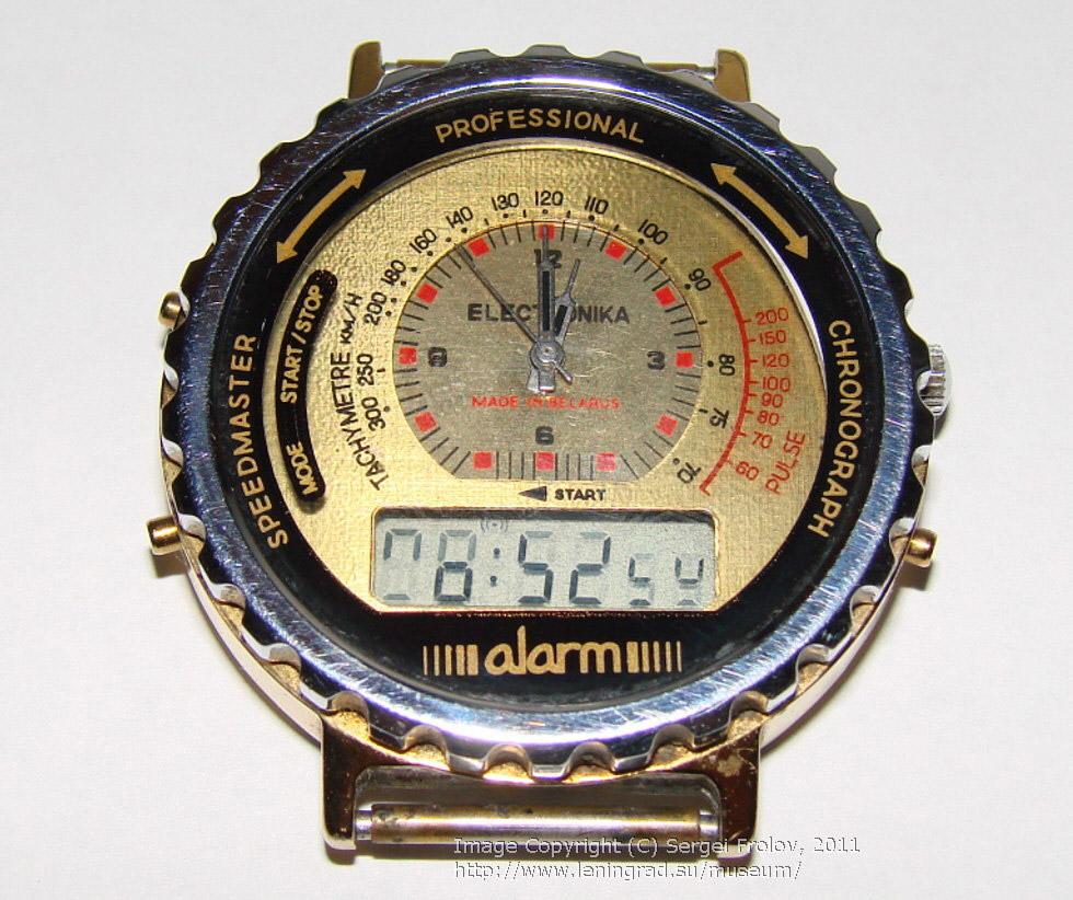 «Электроника» — наручные часы с аналоговым и электронным циферблатом 2 в 1.