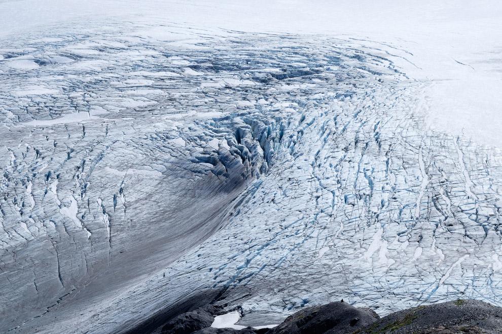 Сложные текстуры ледяного поля Хардинг